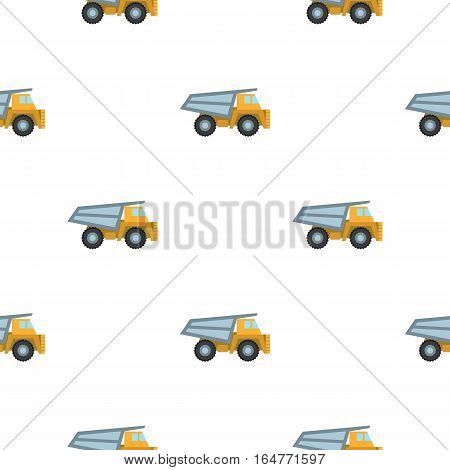 Haul truck icon in cartoon style isolated on white background. Mine pattern vector illustration.