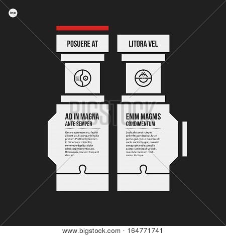 Monochrome Options Template In Strict Contrast Style. Useful For Presentations And Web Design.