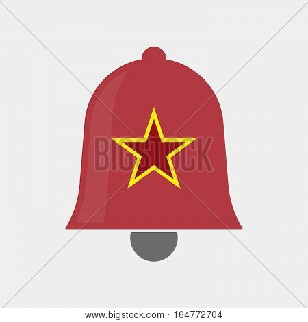 Isolated Bell With  The Red Star Of Communism Icon