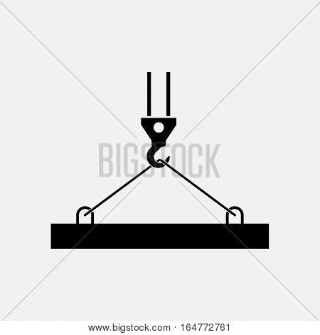 pictograph crane hook, lifting work, Crane, installation works, building, fully editable vector image