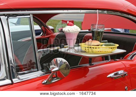 Car With Car Hop Food