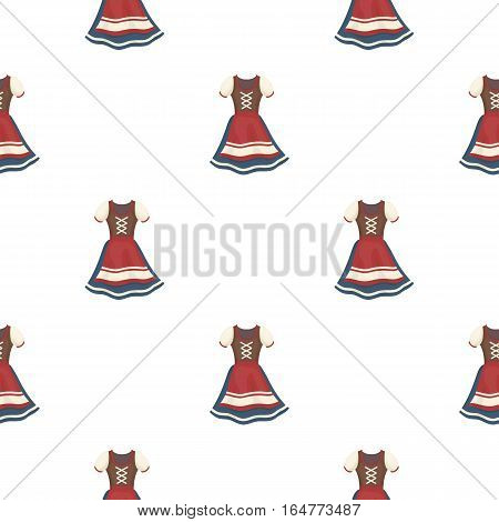 Dirndl icon in cartoon style isolated on white background. Oktoberfest pattern vector illustration.