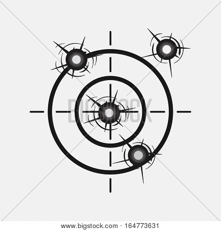 target image with a shot, hitting the target, competition, rivalry, accuracy, study, WAR, fully editable vector image
