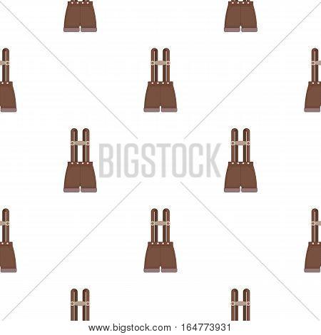 Lederhosen icon in cartoon style isolated on white background. Oktoberfest pattern vector illustration.