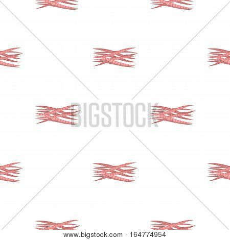 Muscle icon in cartoon style isolated on white background. Organs pattern vector illustration.