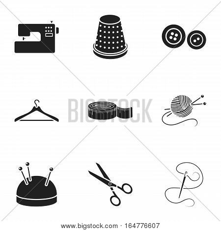 Atelie set icons in black style. Big collection of atelie vector symbol stock