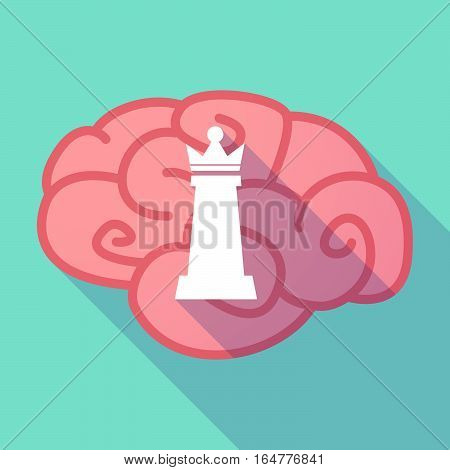 Long Shadow Brain With A  Queen   Chess Figure