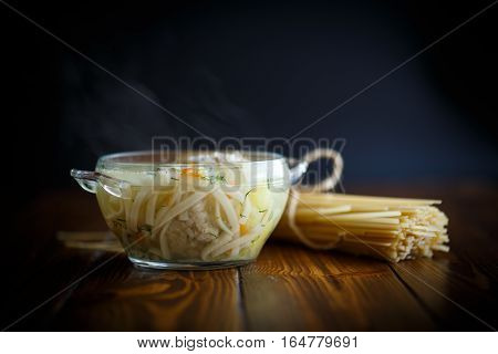 Soup With Noodles And Meatballs