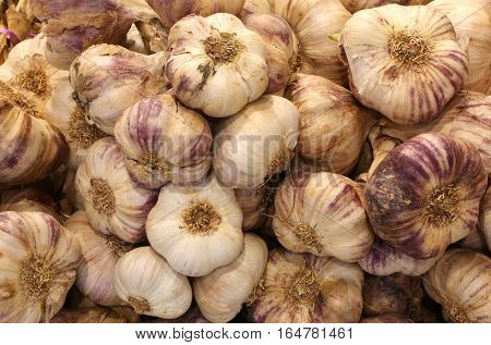 Braids Of Garlic Cloves For Sale In Greengrocers