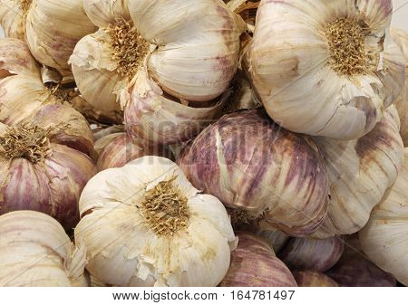 Cloves Of Garlic For Sale At The Greengrocer