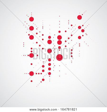 Bauhaus art composition decorative modular red vector backdrop with circles and grid. Retro style pattern graphic backdrop for use as booklet cover template.