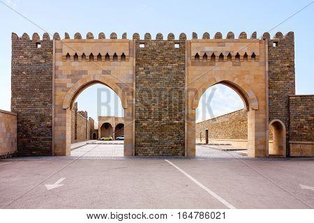 Zoroastrian fire-worshipers temple in Surakhani settlement in the suburbs of Baku, Azerbaijan