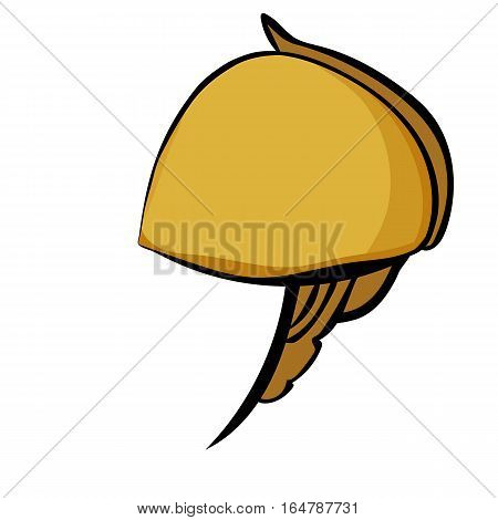 Vector illustration of stylized antique helmet on a white background