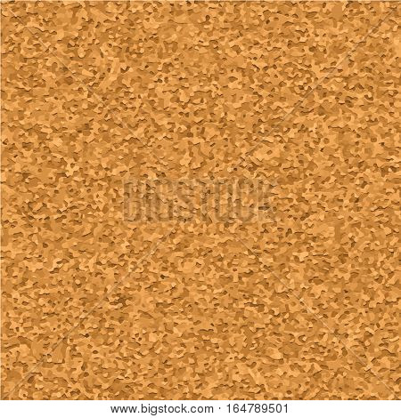 Cork board texture realistic vector seamless pattern, close up. Empty corkbord background for notes and reminder