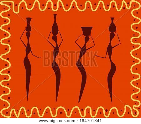 Abstract ethnic patter ntribal background. Vector illustration. eps10