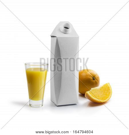 template for the design of packaging for juice