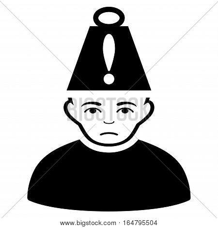 Head Stress vector icon. Flat black symbol. Pictogram is isolated on a white background. Designed for web and software interfaces.