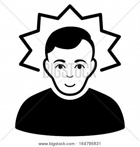 Inventor vector icon. Flat black symbol. Pictogram is isolated on a white background. Designed for web and software interfaces.