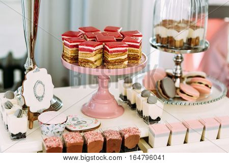 Delicious And Colorful Desserts For The Wedding Guests