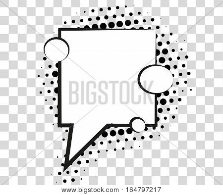 Comic speech bubbles with halftone shadows. Vector illustration eps 10 isolated on background