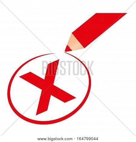 x reject icon image vector illustration design
