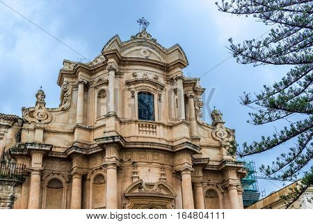 Church of San Domenico in Noto city Sicily in Italy
