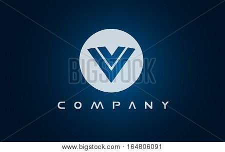 Alphabet letter V vector logo icon sign design template