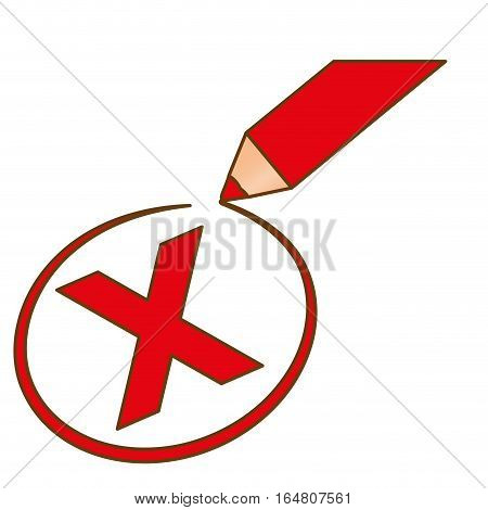 x reject or cancel icon image vector illustration design