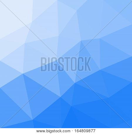 Blue geometric rumpled background. Low poly style gradient illustration. Graphic background.
