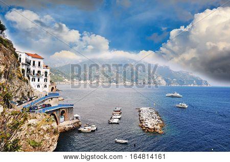 Amalfi seaside coast landscape - Italy, Europe