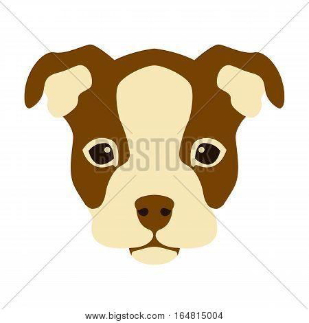 puppy  head face vector illustration style Flat