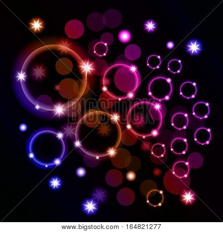 Abstract background with ellipses in different colors. Illustration.