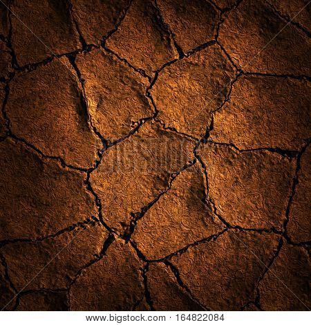 Seamless Texture earth cracked because of drought.