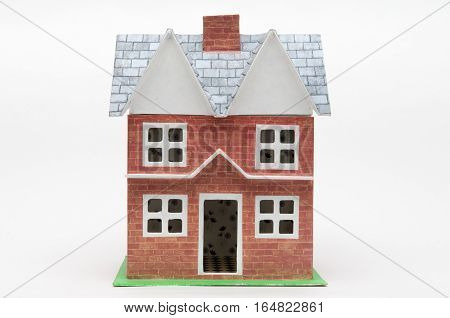Dolls House Isolated On White