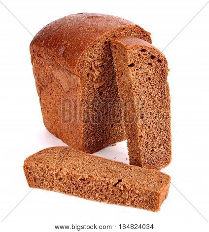 Brown bread isolated over clear white background
