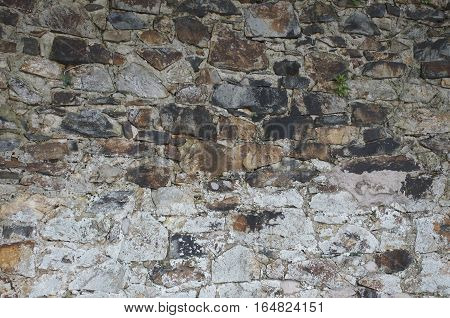 Old chalky stone wall texture scattered design, house building, light stone with reddish 2 of 2