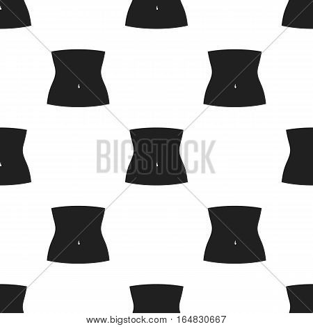 Abdomen icon in black style isolated on white background. Part of body pattern vector illustration.