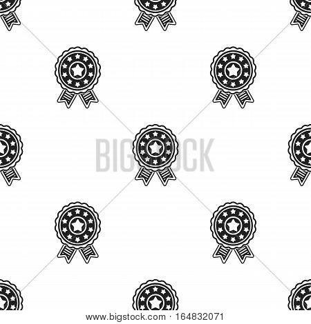 Vote emblem icon in black style isolated on white background. Patriot day pattern vector illustration.