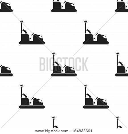 Bumper car icon in black style isolated on white background. Play garden pattern vector illustration.
