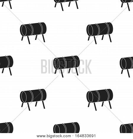 Playground tunnel icon in black style isolated on white background. Play garden pattern vector illustration.
