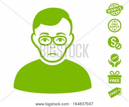 Downer icon with free bonus design elements. Vector illustration style is flat iconic symbols eco green color white background.