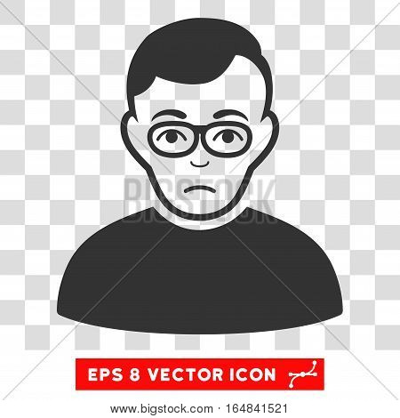 Downer EPS vector pictograph. Illustration style is flat iconic gray symbol on chess transparent background.