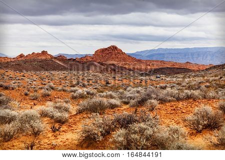 Scenic Desert at Valley of Fire State Park southern Nevada USA