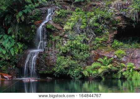 Magnificent waterfall in The Blue Mountains National Park, NSW, Australia