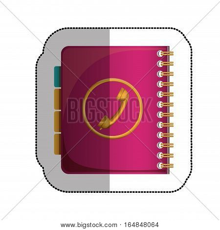 Agenda icon. Notebook book directory and information theme. Isolated design. Vector illustration