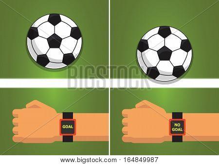 Goal Line Sport technology ิball Vector Illustration