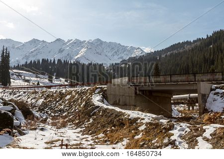 Road Bridge In The Mountains