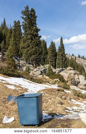 Wheelie Bin In The Mountains