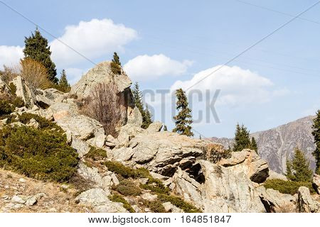 Stones On Mountainside