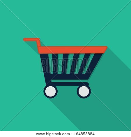 Vector Shopping cart, design element for mobile and web applications, eps 10